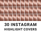 30 Instagram Highlight Icons - Rose Gold