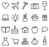 30 Instagram Story Highlight Icons - White & Black - Mimosa Designs
