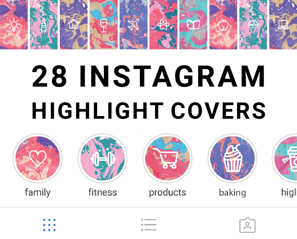 Instagram Highlight Icons Marble Birthday
