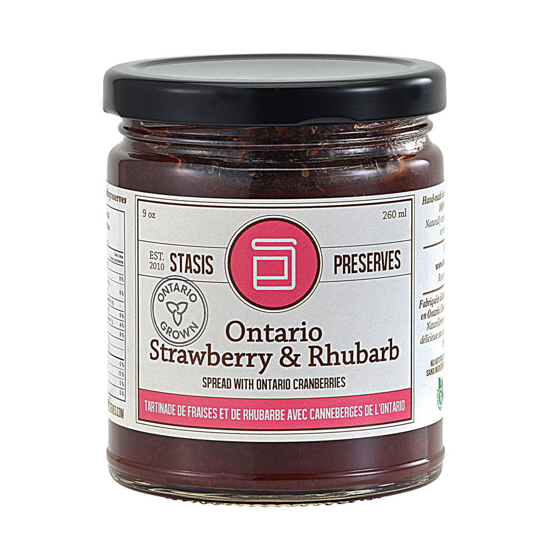 Ontario Strawberry Rhubarb Spread