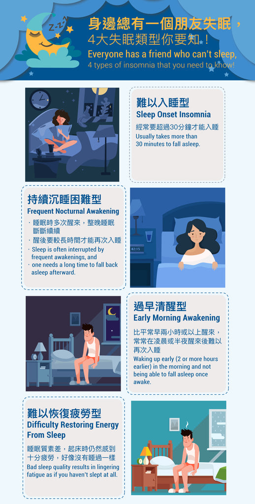 4 Types of insomnia that you need to know