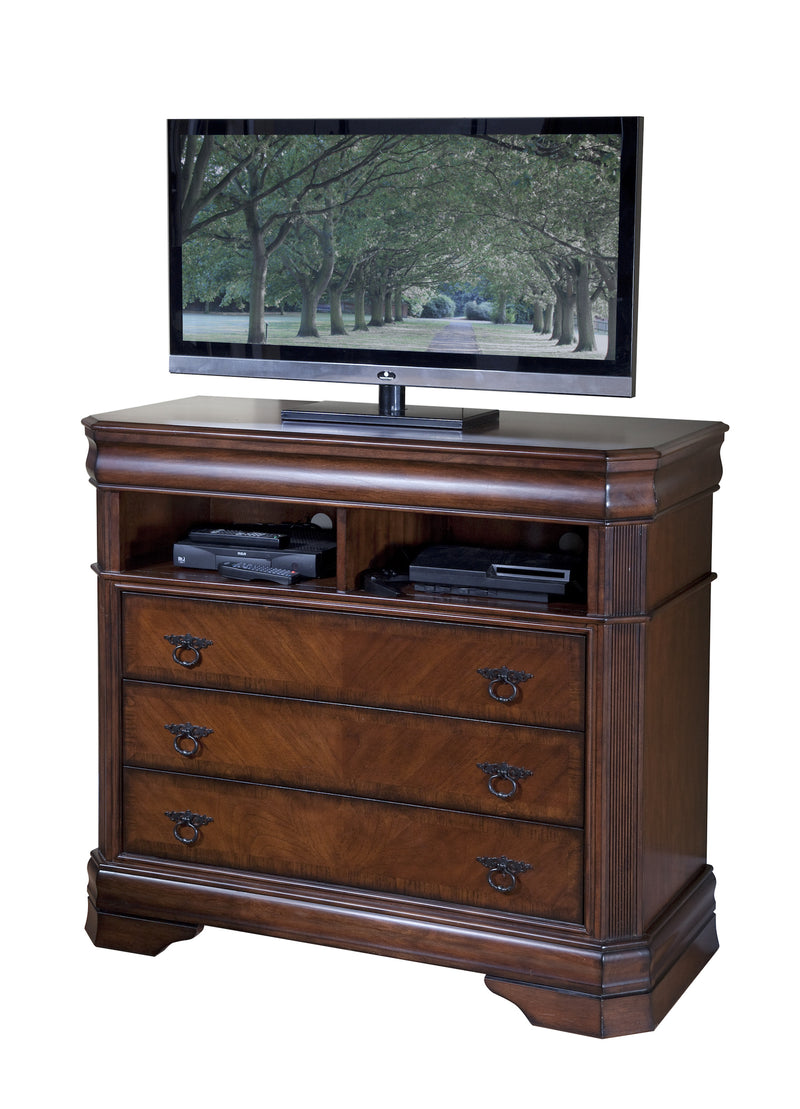 New Classic Sheridan Media Chest in Burnished Cherry