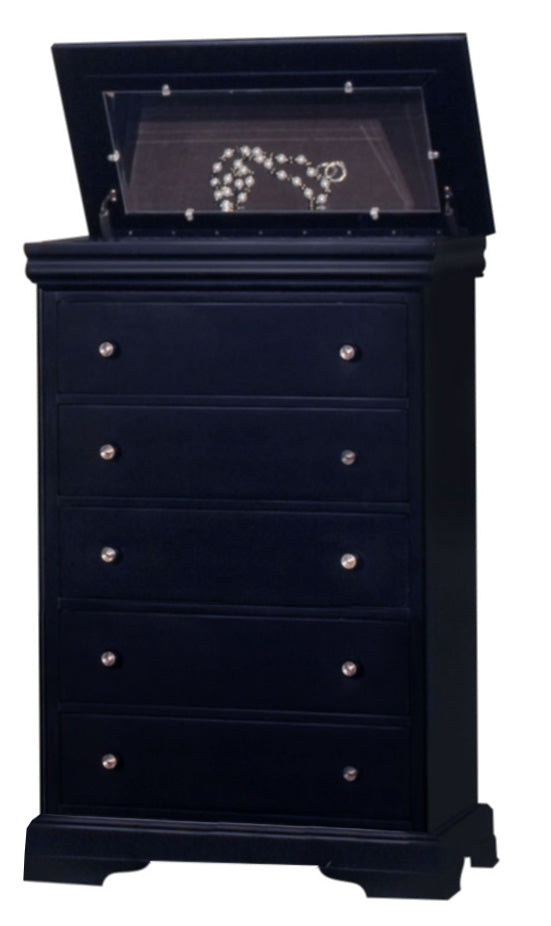 New Classic Belle Rose Chest in Black