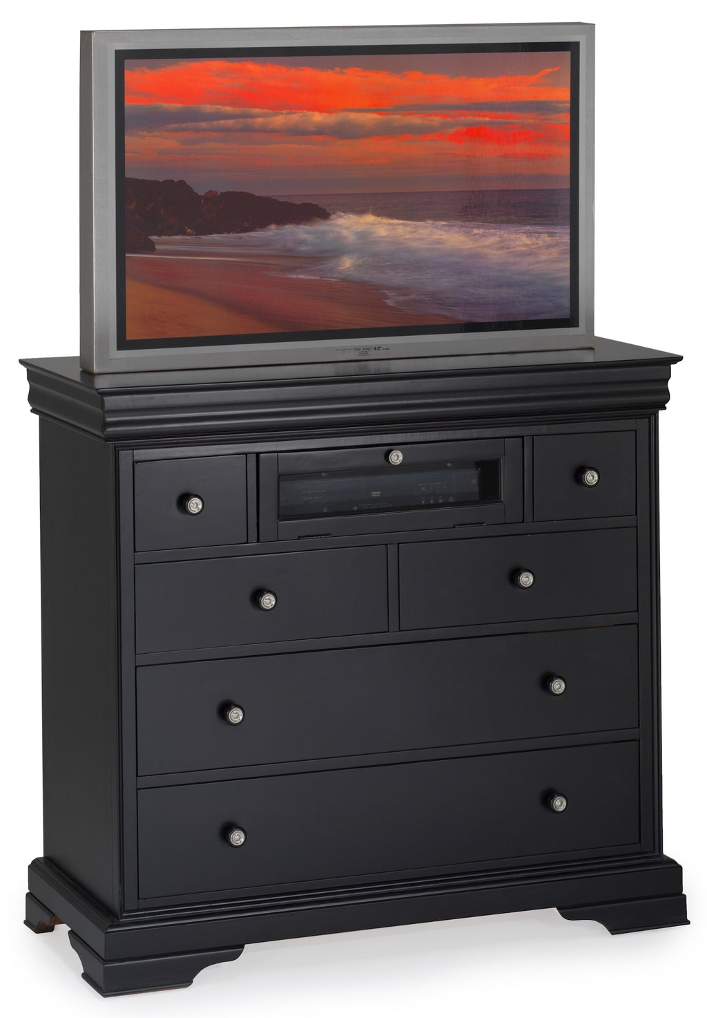 New Classic Belle Rose  Media Chest in Black