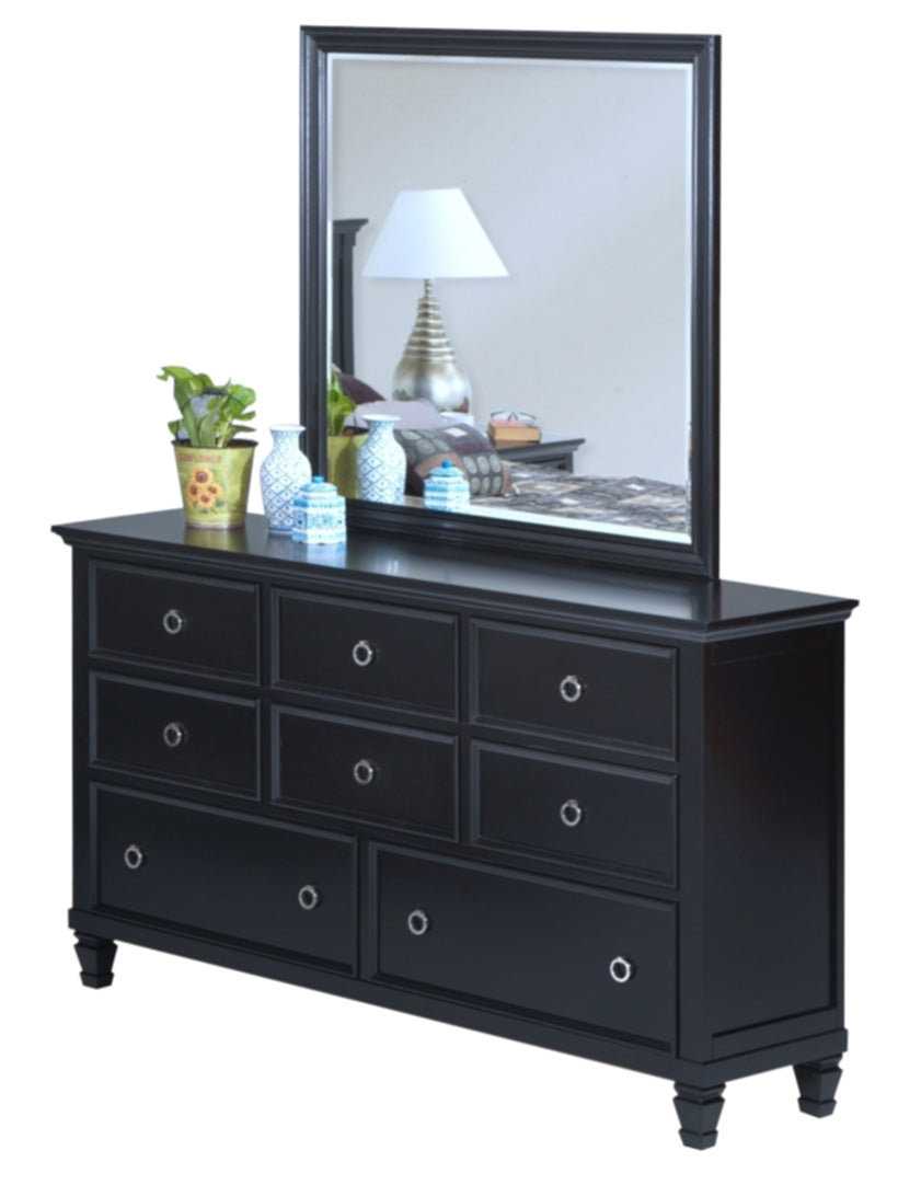 New Classic Tamarack Dresser & Mirror in Black