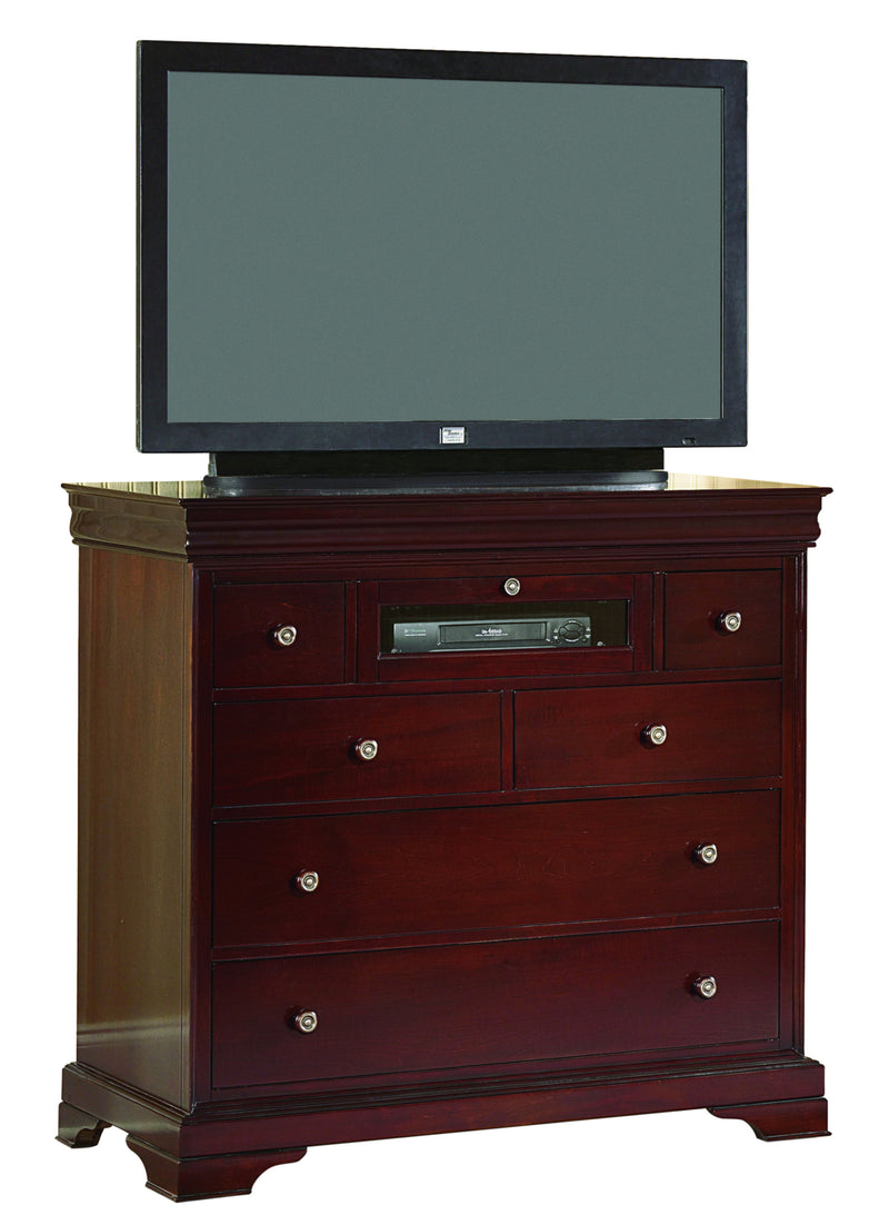 New Classic Versaille Media Chest in Bordeaux