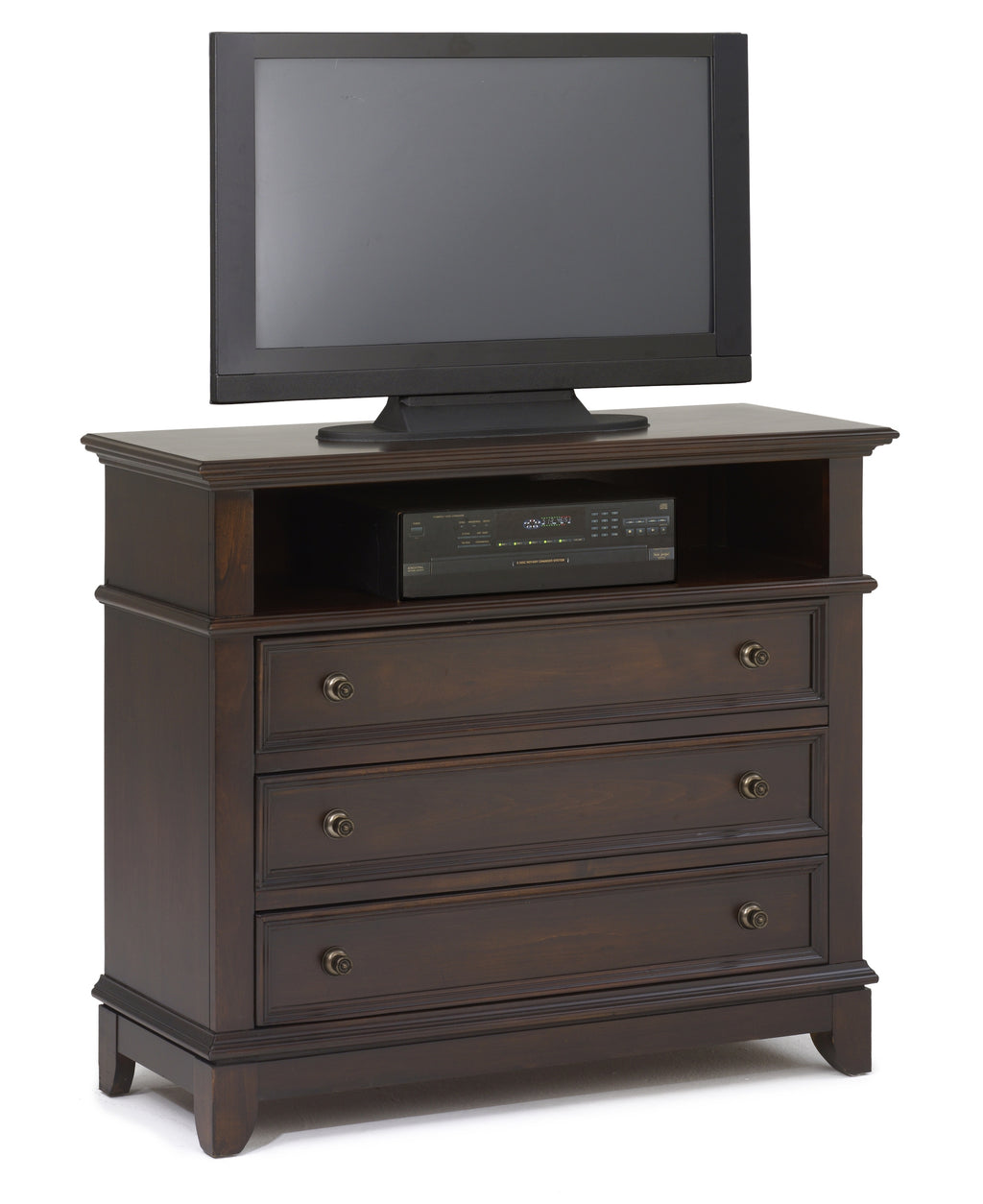 New Classic Kensington Media Chest in Burnished Cherry