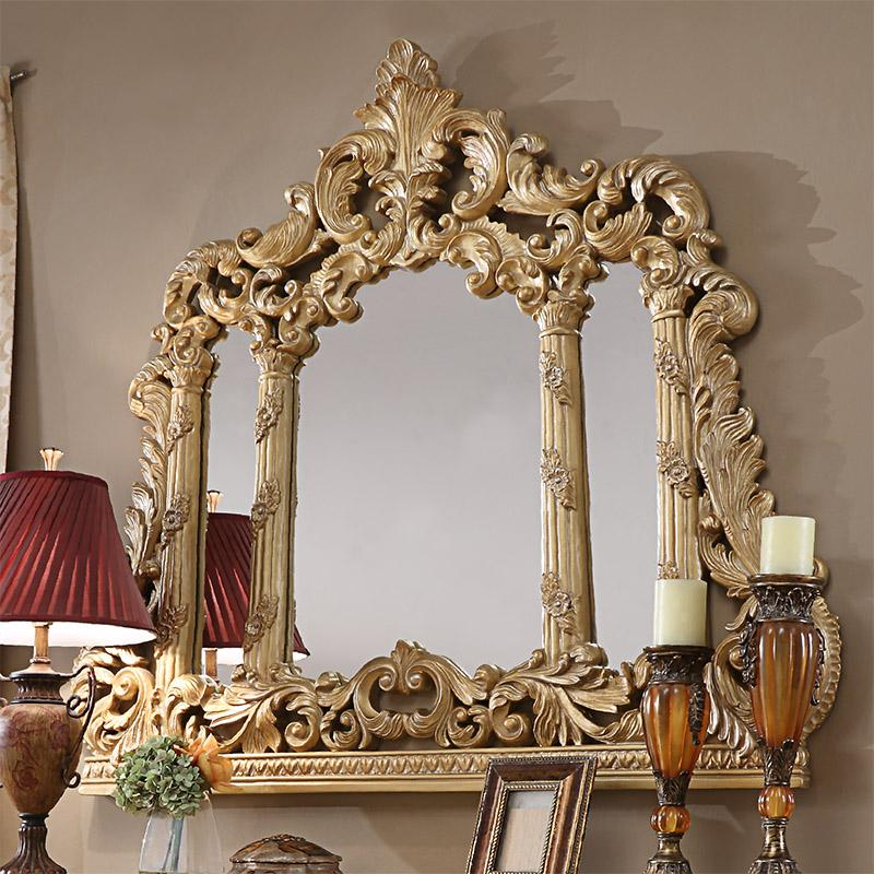 Mirror in Metallic Antique Gold Finish M1801 European Traditional Victorian