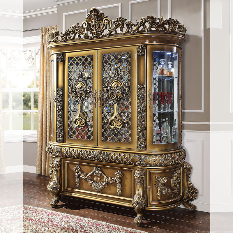 China Cabinet in Brown Finish CH1802 European Traditional Victorian