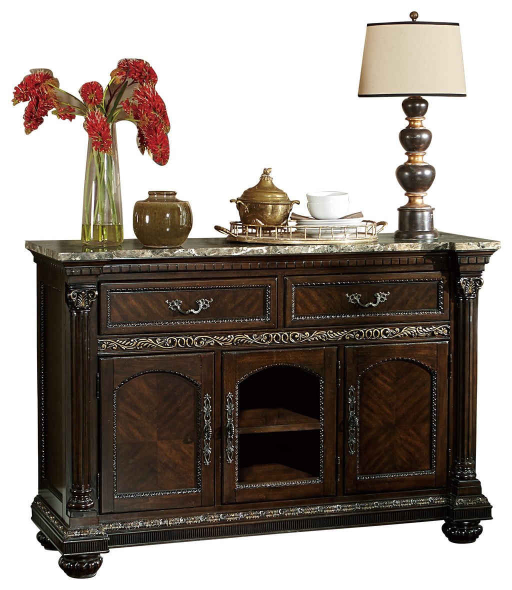 Homelegance Russian Hill server in Warm Cherry
