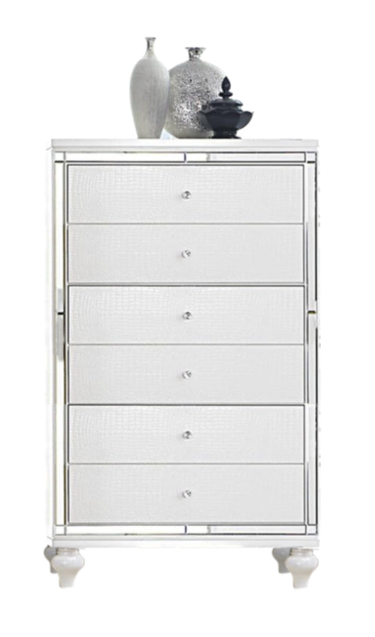 Homelegance Alonza Chest in Bright White