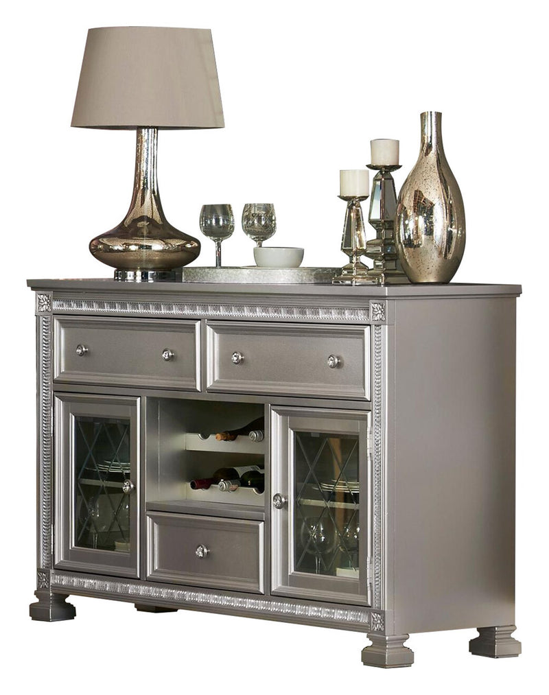 Homelegance Bevelle Server in Silver