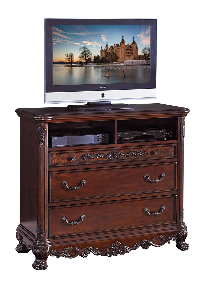 Homelegance Deryn Park TV Chest in Cherry