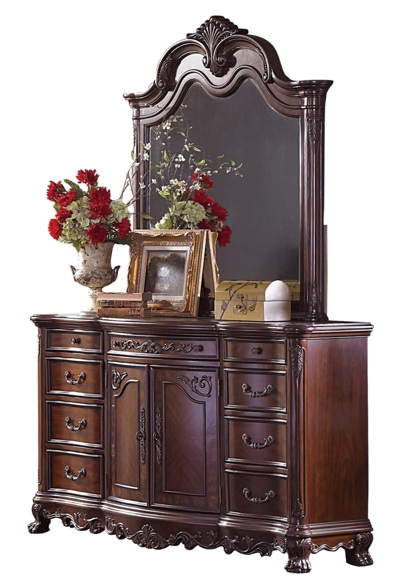 Homelegance Deryn Park 6PC Bedroom Set Queen Sleigh Bed, Dresser, Mirror, 2 Nightstand, Chest in Cherry