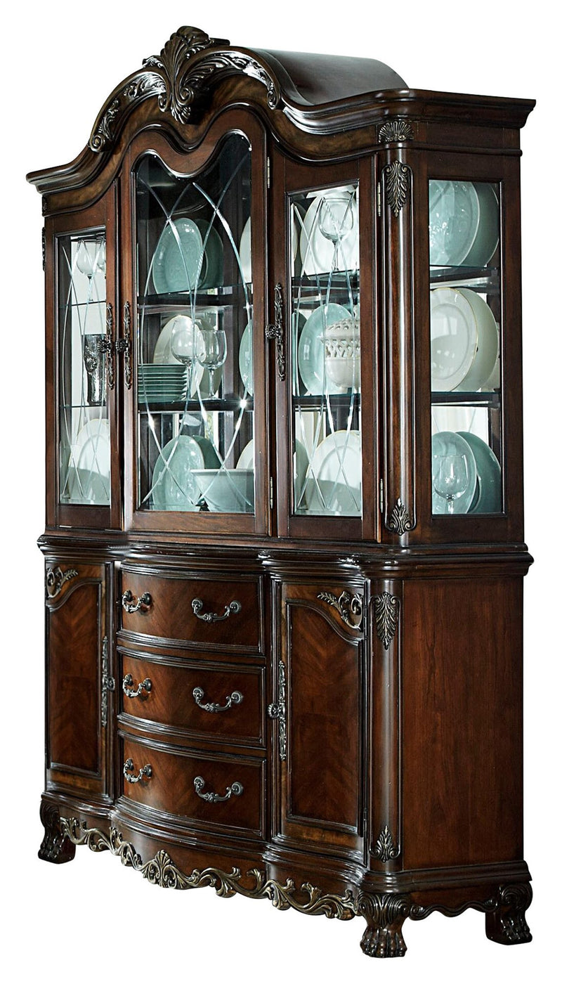 Homelegance Deryn Park Buffet & Hutch In Cherry