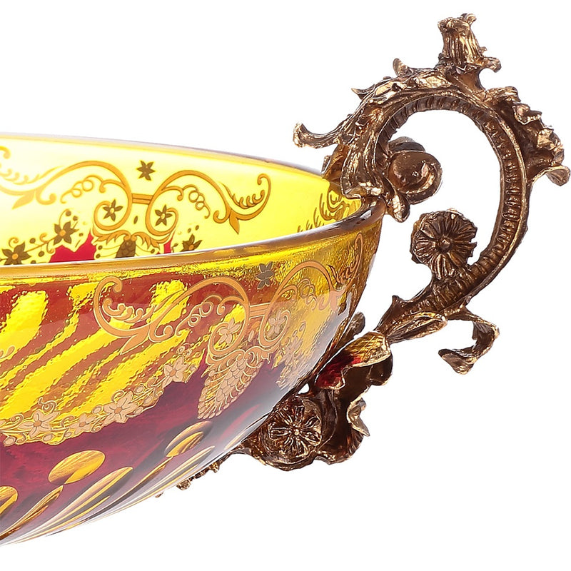 Bowl in Bronze & Amber & Ruby Red-Gold Finish AC3001 European Victorian