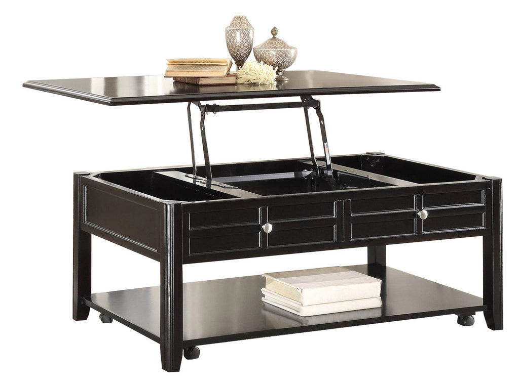 Homelegance Carrier Cocktail Table with Lift Top on Casters in Dark Espresso