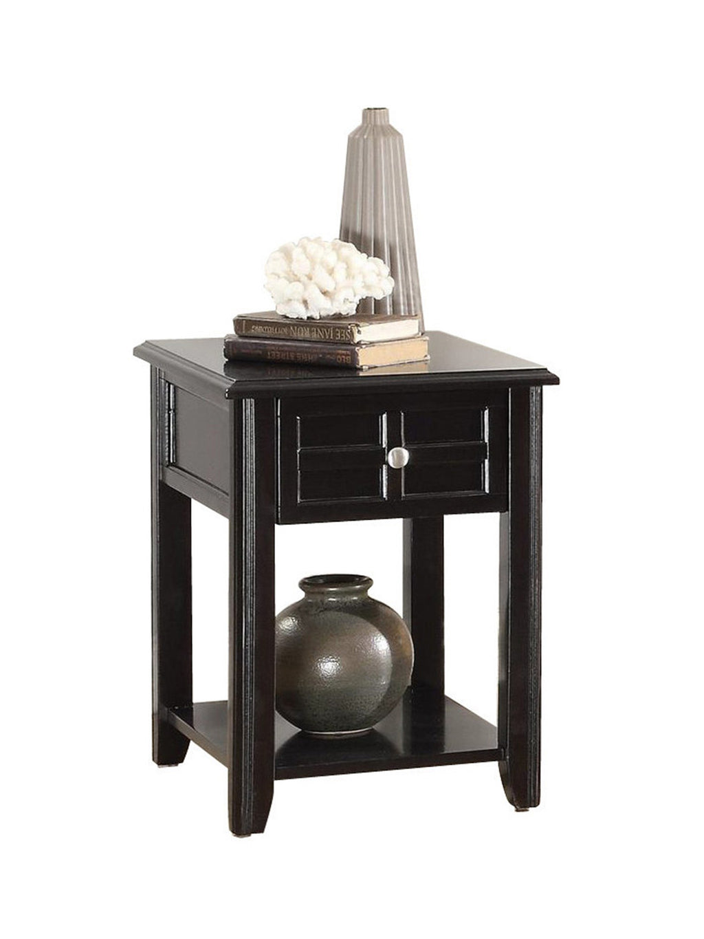 Homelegance Carrier Chair Table with Functional Drawer in Dark Espresso