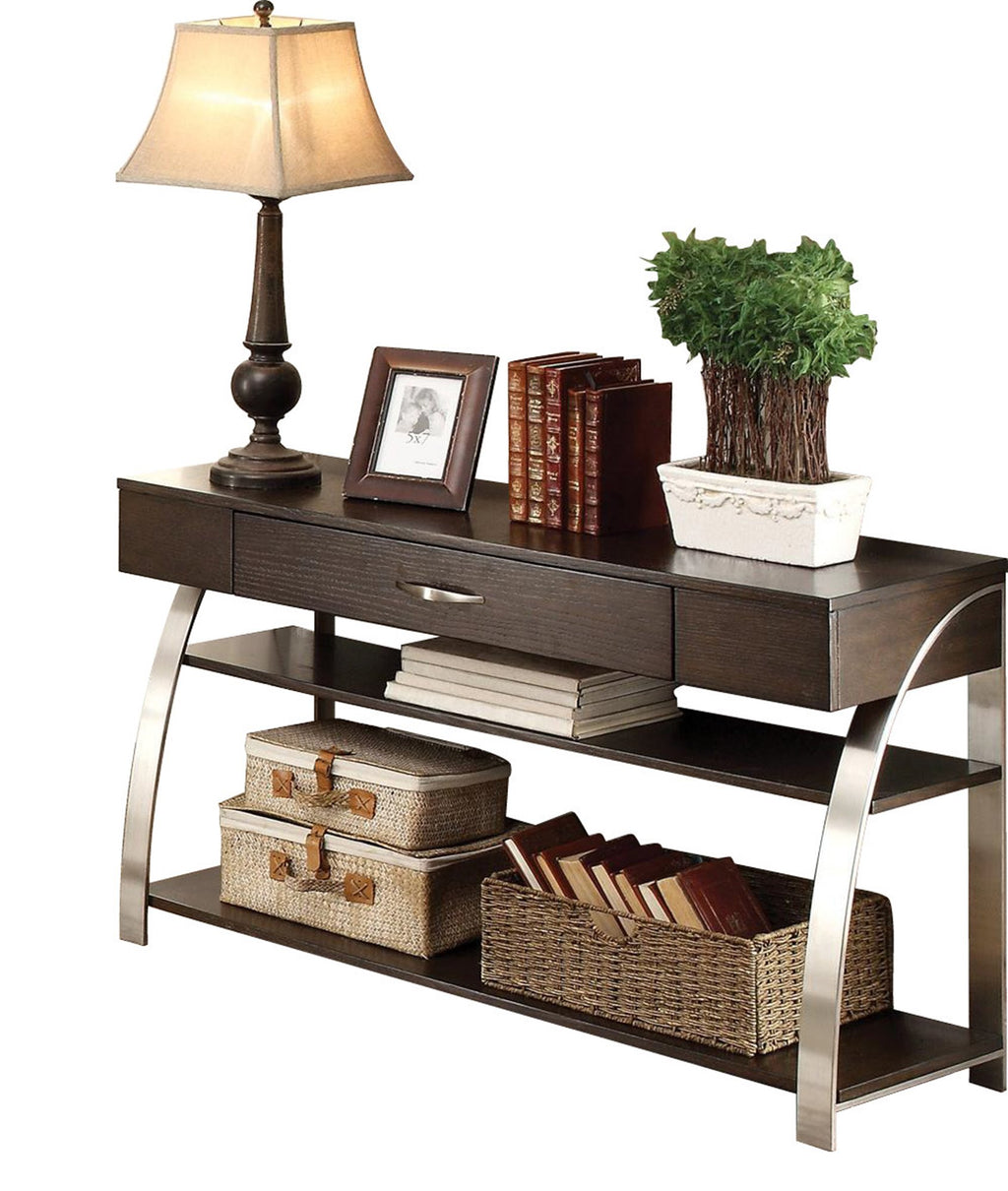 Homelegance Tioga Sofa Table with Functional Drawer in Espresso