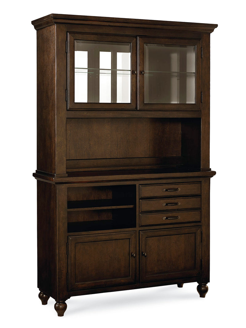 Legacy Classic Thatcher Buffet & Hutch in Amber
