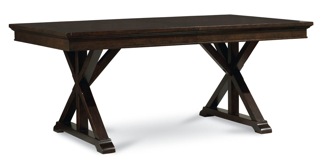 Legacy Classic Thatcher Trestle Table in Amber