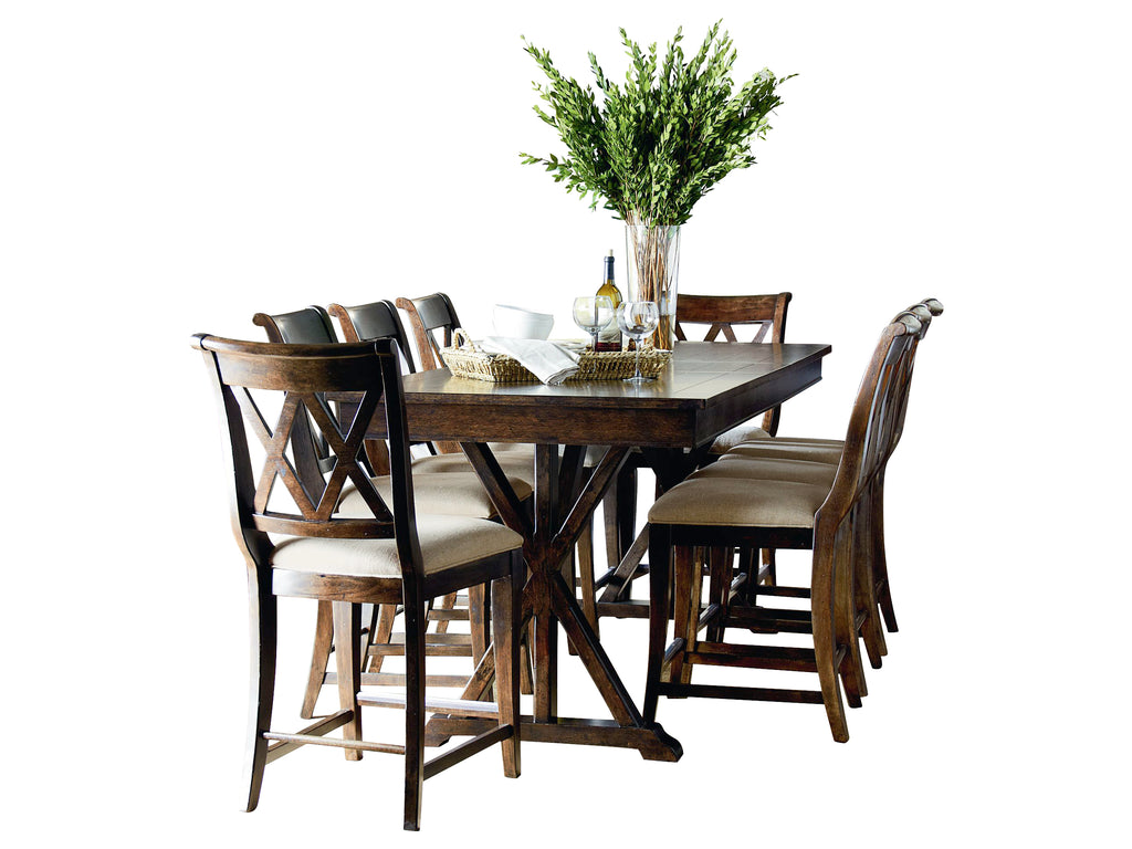 Legacy Classic Thatcher 9PC Dining Set Dining Table Eight Side Chair in Amber
