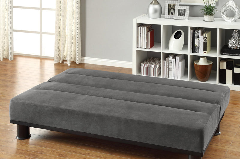 Homelegance Callie Convertible Sofa in Microfiber - Grey