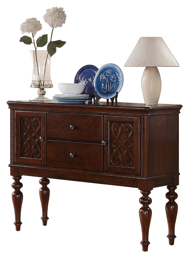 Homelegance Creswell Server in Rich Cherry