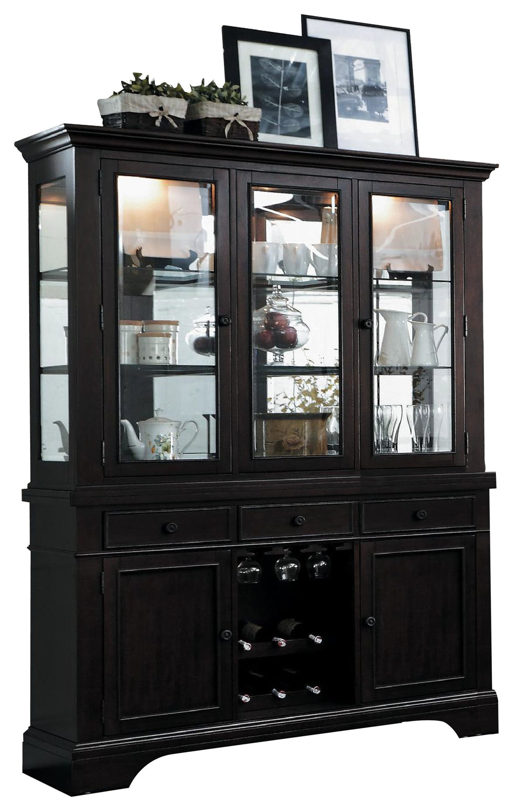 Homelegance Reid Buffet & Hutch in Cherry