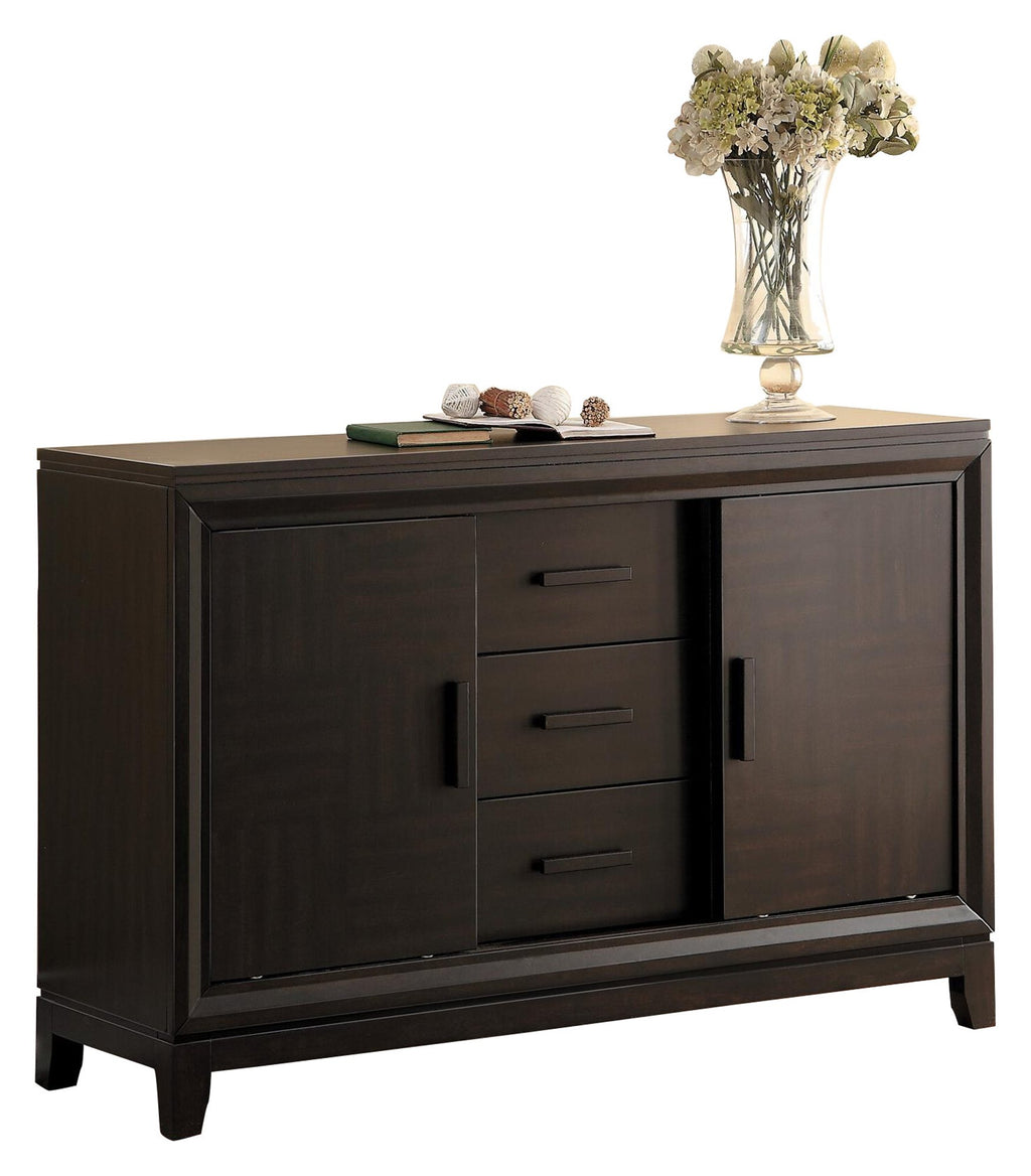 Homelegance Kavanaugh Contemporary Server in Brown