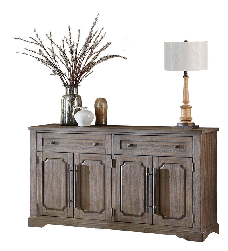 Homelegance Toulon Server in Distressed Oak