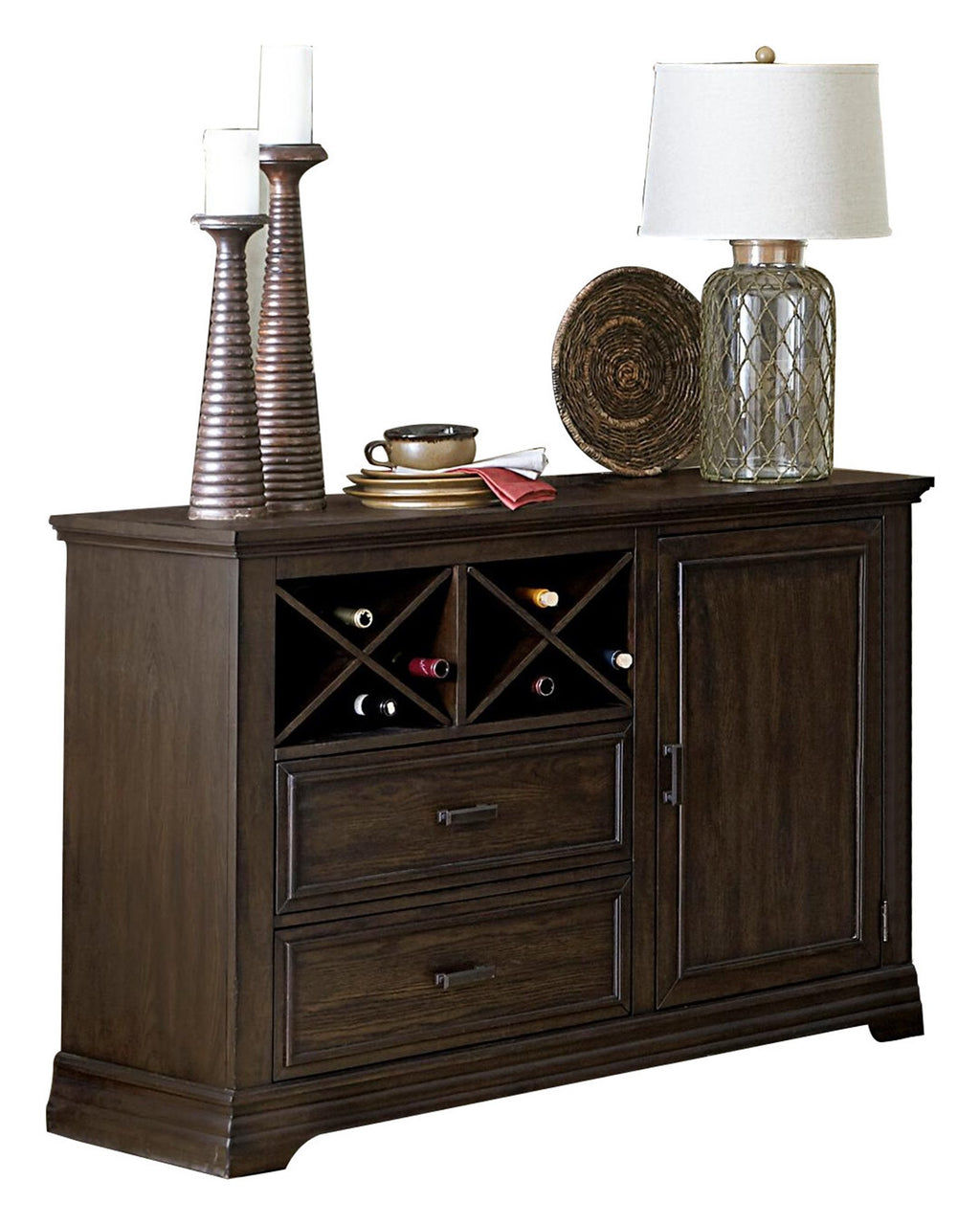 Homelegance Makah Server in Rustic Brown