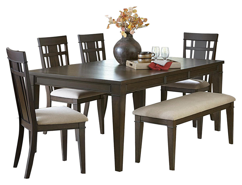 Homelegance Makah 6PC Dining Set Dining Table Four Side Chair Bench in Natural Tone