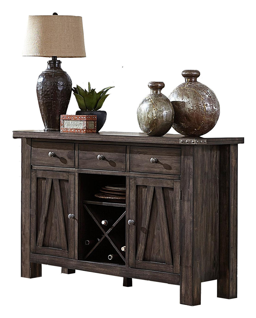 Homelegance Mattawa Server in Rustic Brown