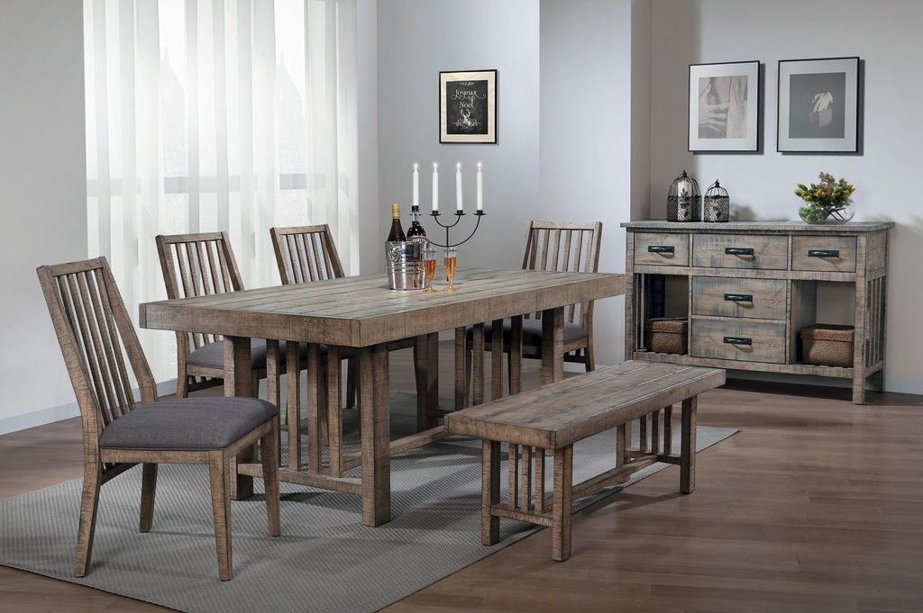 Homelegance Codie Dining Bench in Rustic Wood