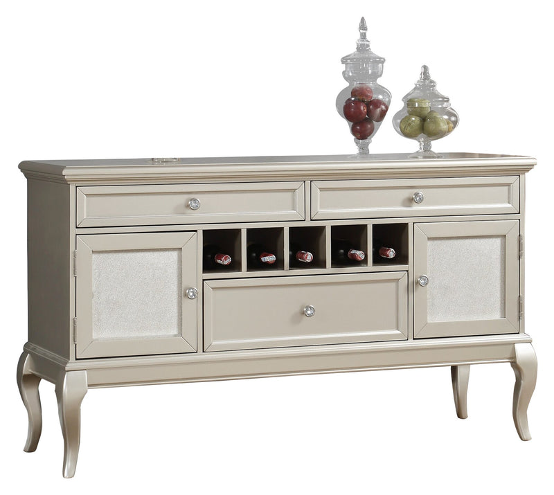 Homelegance Crawford Server in Silver