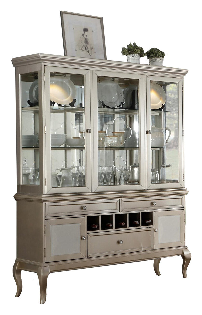 Homelegance Crawford Buffet & Hutch in Silver
