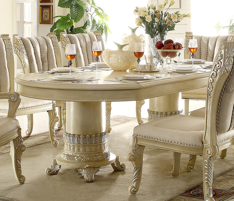 Dining Table in Newberry Cream Finish D5800 European Traditional Victorian