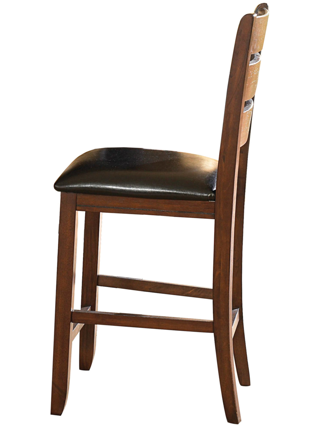 Homelegance Ameillia Counter Height Chair in Dark Oak