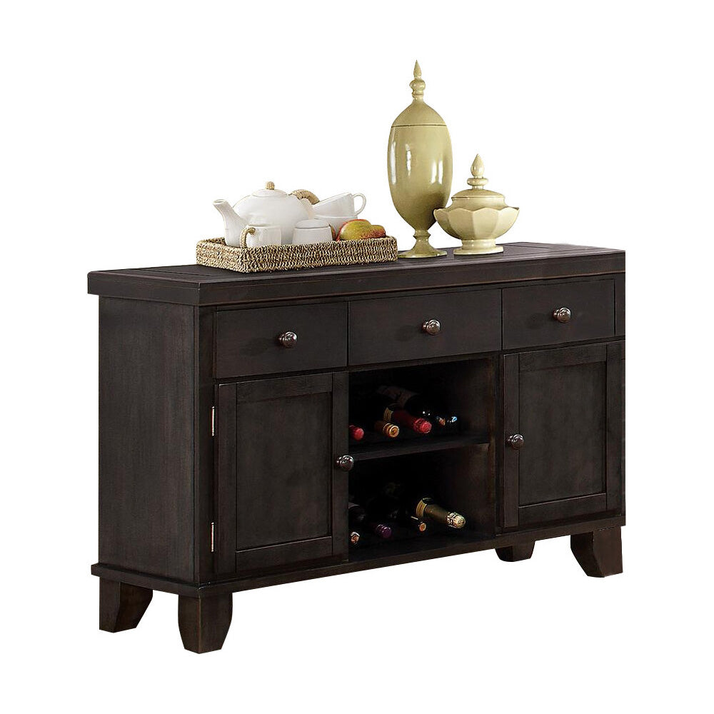Homelegance Ameillia Server in Dark Oak