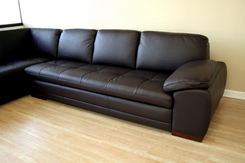 Contemporary Chaise Sectional Sofa in Brown Wood - The Furniture Space.