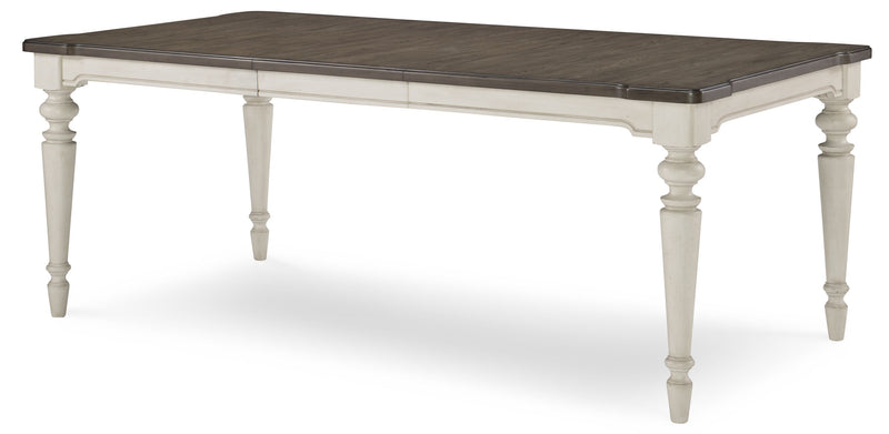 Legacy Classic Brookhaven Dining Table in Rustic Dark Elm