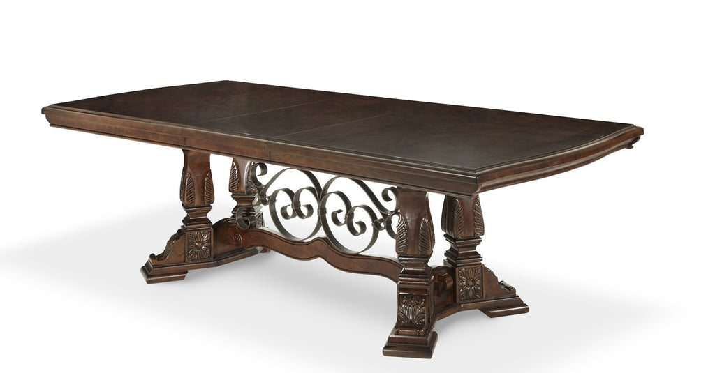 Aico Amini Windsor Court Rectangular Dining Table in Vintage Fruitwood