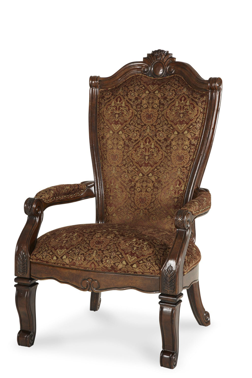 Aico Amini Windsor Court 1 Arm Chair in Vintage Fruitwood