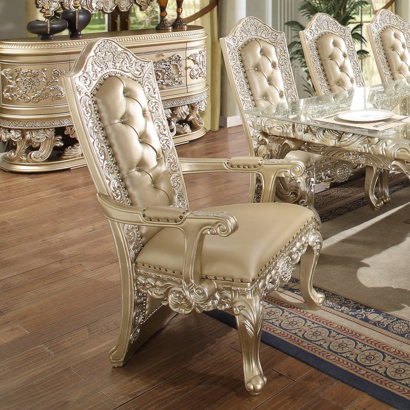 9 PC Dining Table Set in Belle Silver Finish 8022-DTSET9 European Victorian