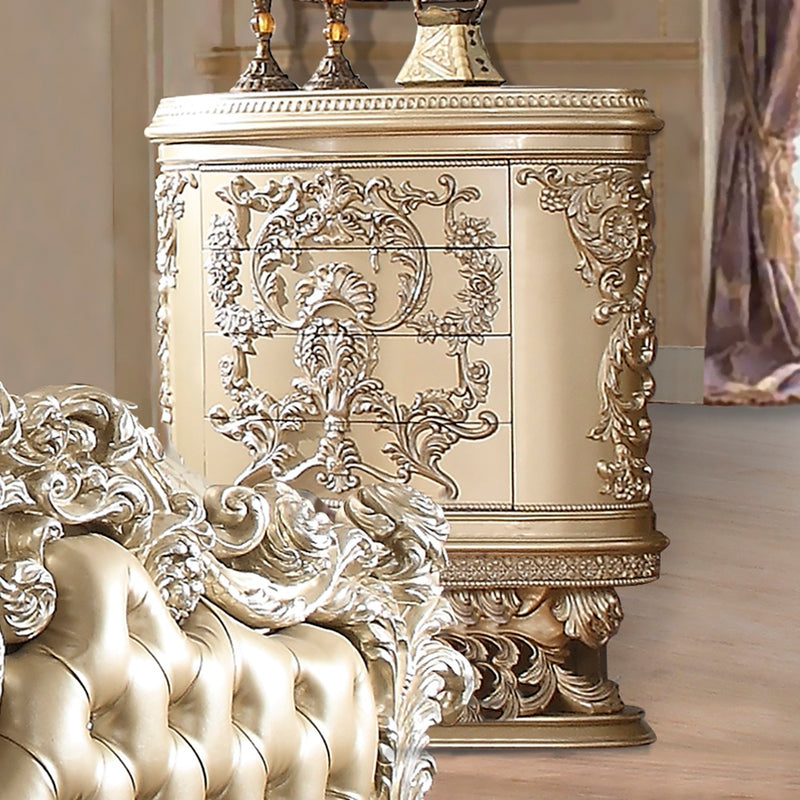 Chest in Belle Silver Finish CHE8022 European Traditional Victorian