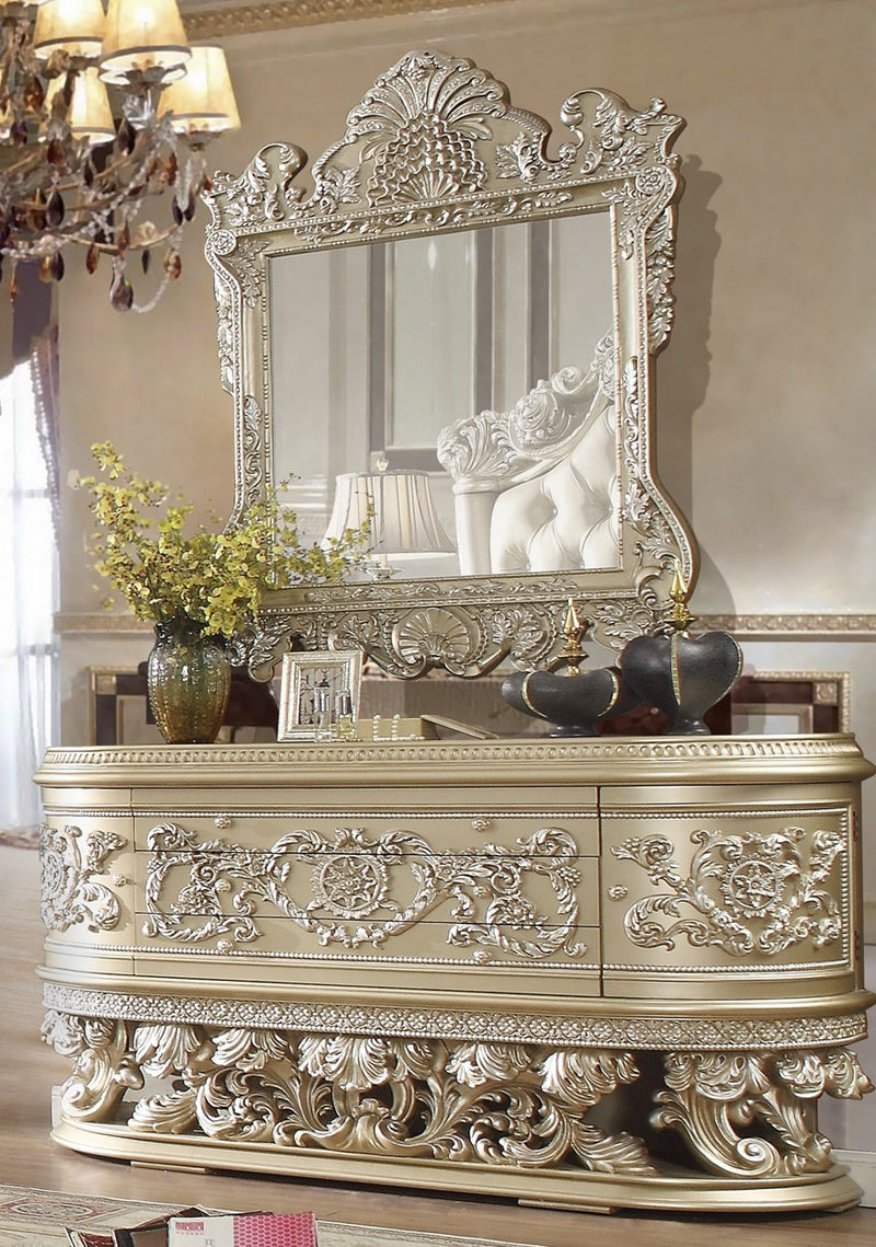 Dresser in Belle Silver Finish DR8022 European Traditional Victorian
