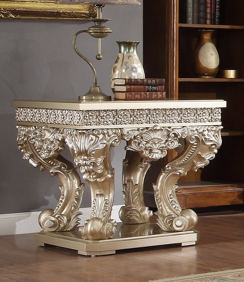 End Table in Belle Silver Finish E8022 European Traditional Victorian