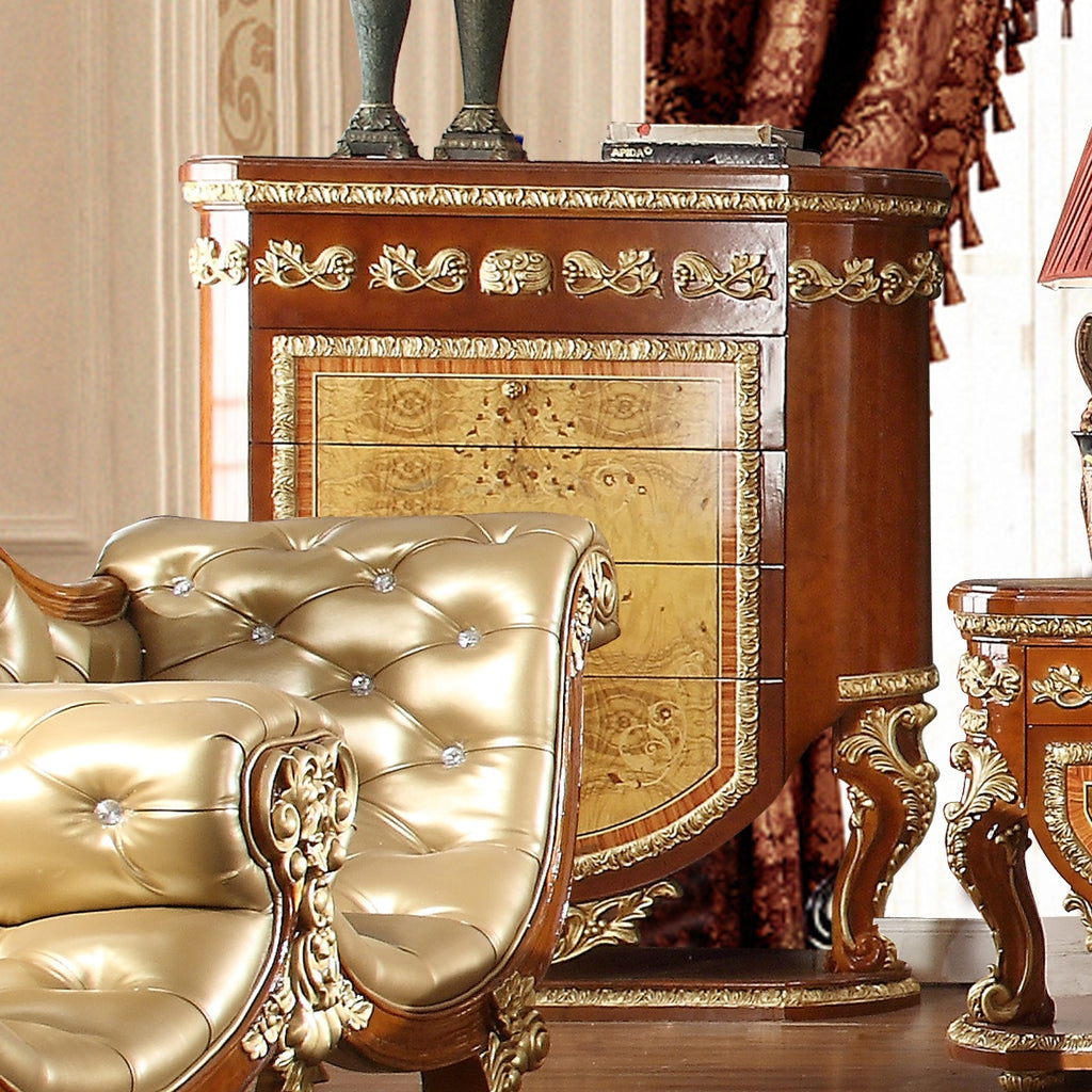 Chest in Metallic Golden Tan Finish CHE8024 European Traditional Victorian