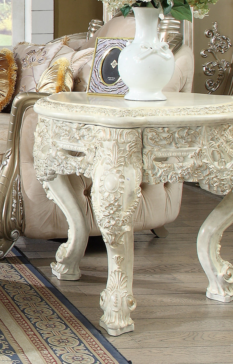 End Table in Plantation Cove White Finish E8030 European Traditional Victorian